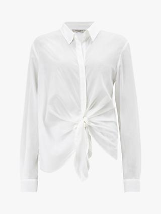 15ed77769be AllSaints Sirena Tie Front Shirt