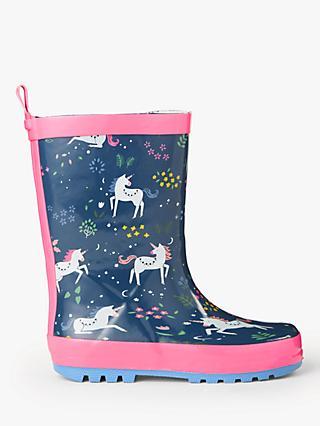 57f3bba50 John Lewis & Partners Children's Unicorn Wellington Boots, ...