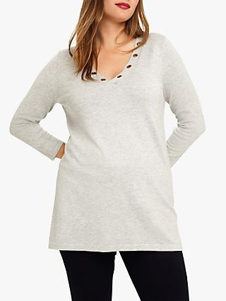 Studio 8 Anna Longline V-Neck Jumper, Grey