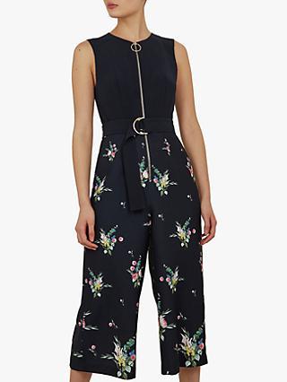 a925dc7cf393 Ted Baker Sierrah Floral Zip Detail Jumpsuit