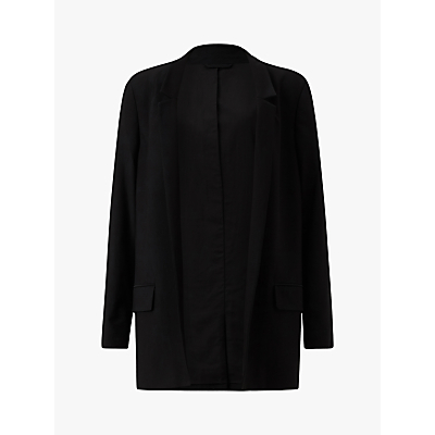 Image of AllSaints Aida Jersey Blazer, Black