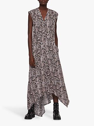 ec027323f639 AllSaints Tate Misra Snake Print Dress