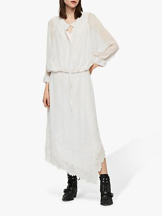 AllSaints Rhea Ebony Dress, Chalk White