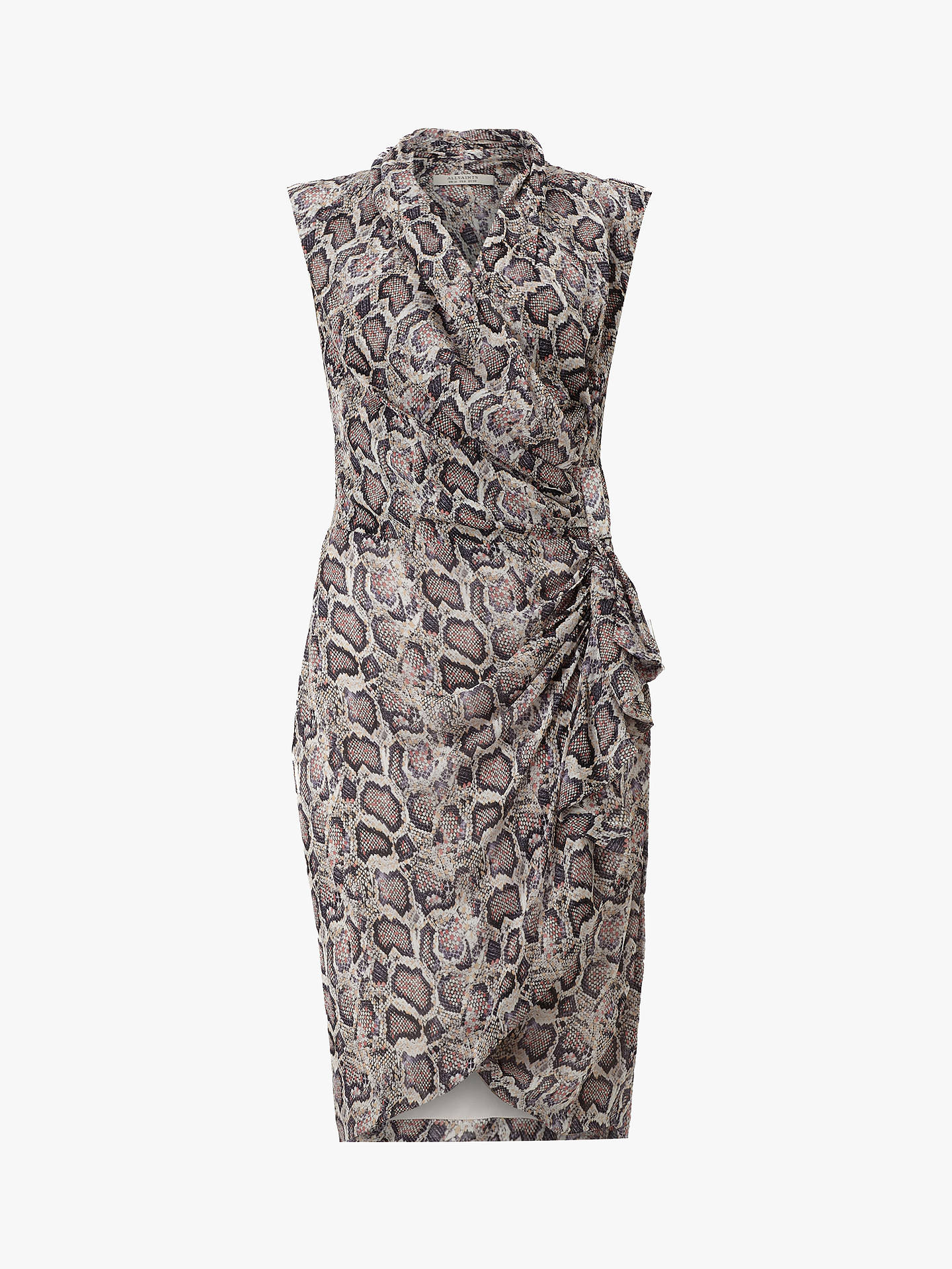 Buy AllSaints Cancity Misra Snake Print Dress, Multi, 14 Online at johnlewis.com