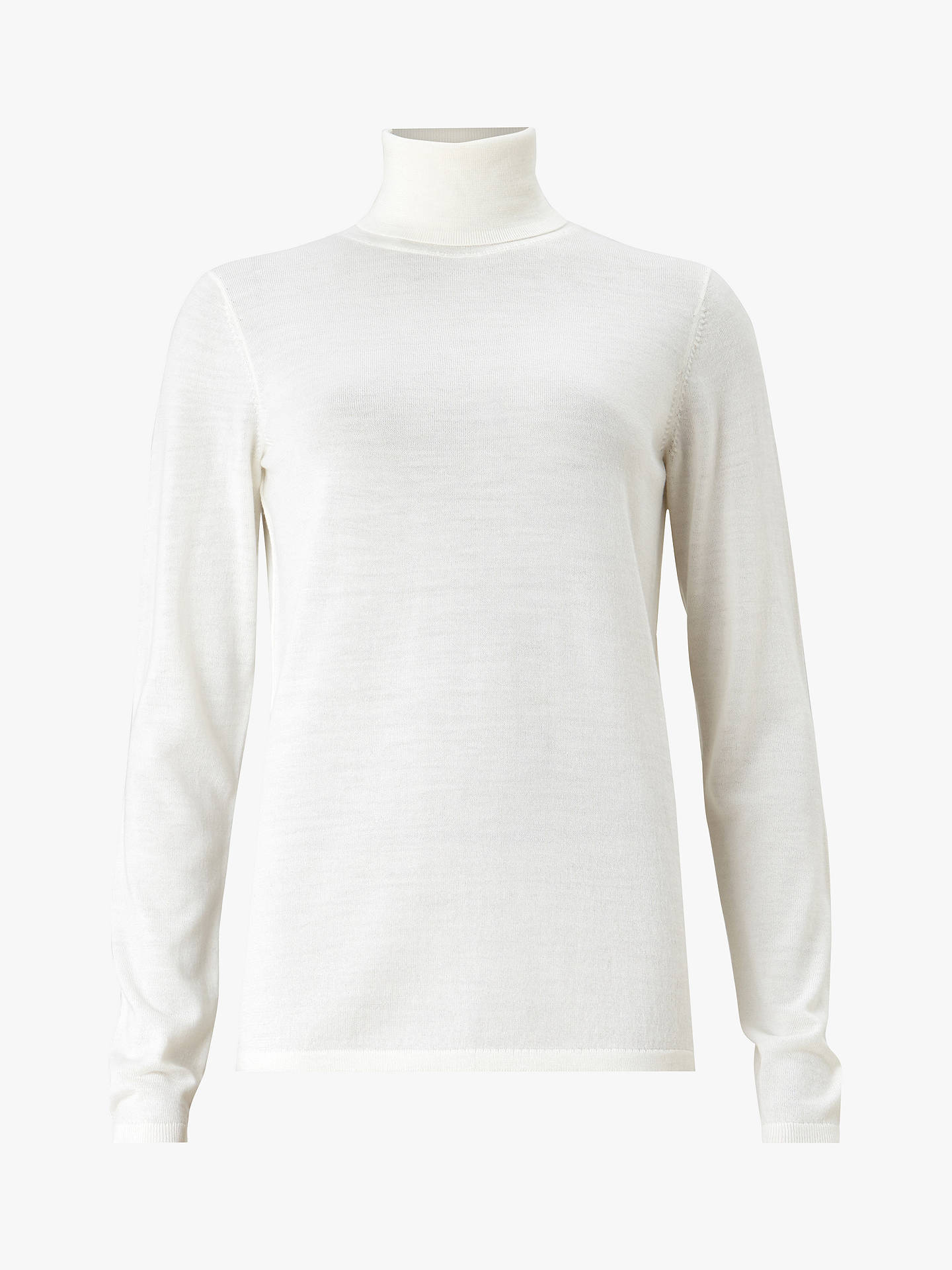 Buy AllSaints Ira Roll Neck Knit Jumper, Ivory White Marl, XS Online at johnlewis.com