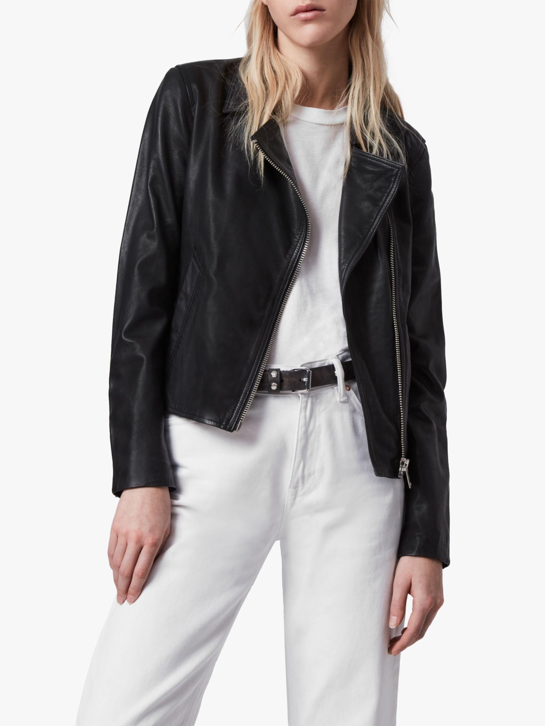 a0f9e0b60 AllSaints Vela Leather Biker Jacket, Black