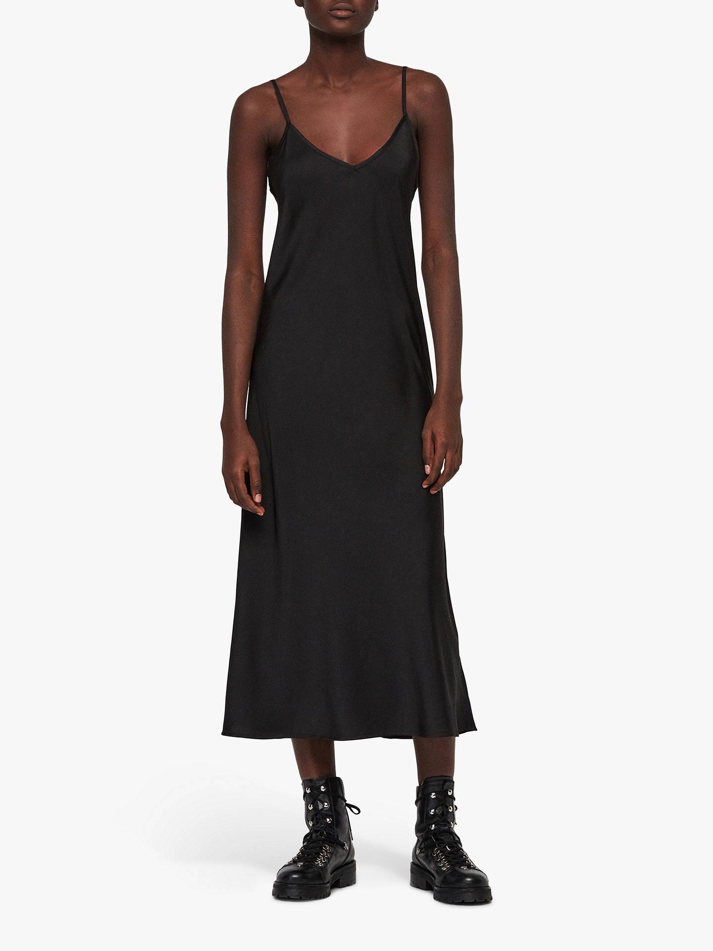 684addfe32e8 ... Buy AllSaints Benno Tee Dress, Black, XS Online at johnlewis.com ...