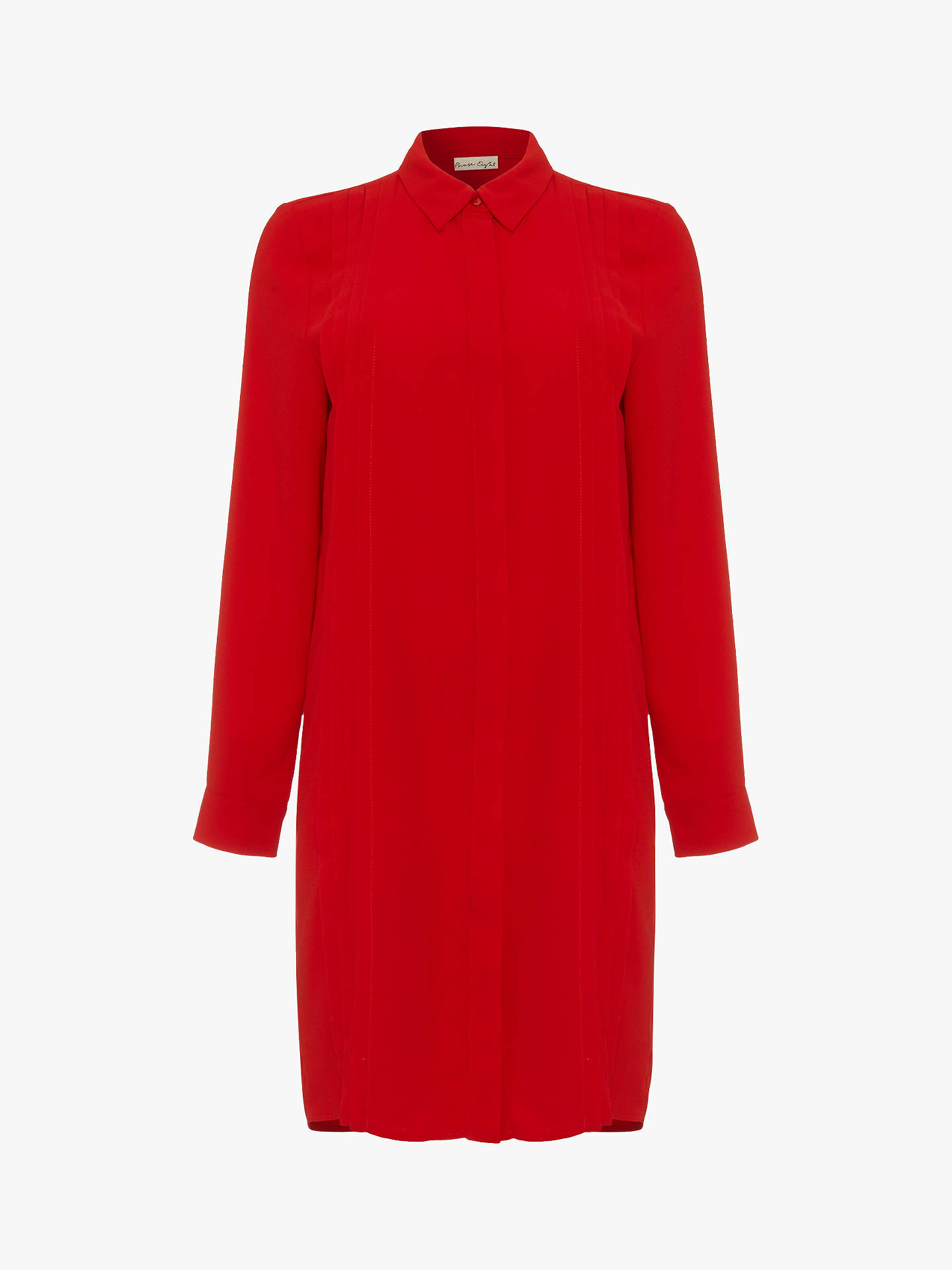 Buy Phase Eight Dolunay Shirt Dress, Red, 8 Online at johnlewis.com