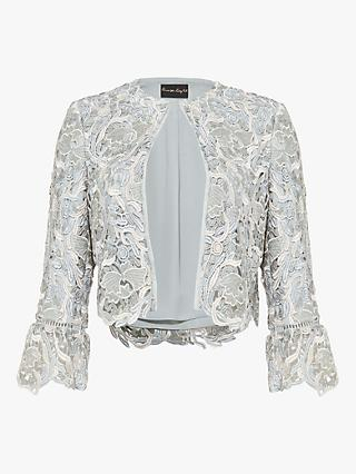 Phase Eight Ellise Lace Jacket, Duck Egg