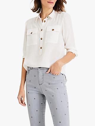 b6079b6ecef56f Phase Eight Gwenda Relaxed Double Pocket Shirt