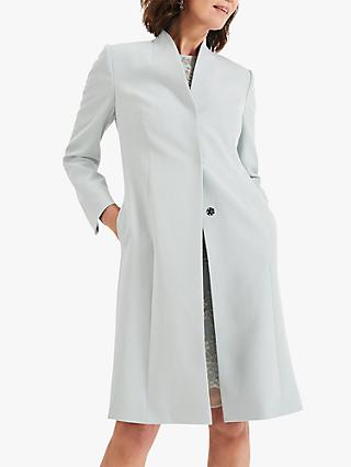 Phase Eight Constanza Coat, Duck Egg