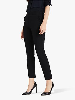 Phase Eight Marling Decorative Pocket Trousers, Black