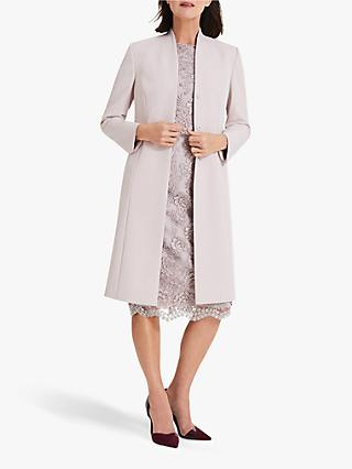 Phase Eight Constanza Coat, Mauve Chalk