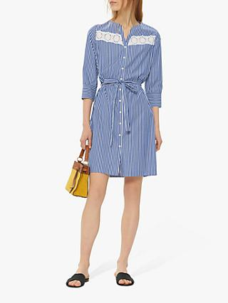 Gerard Darel Gael Stripe Shirt Dress, Blue/White