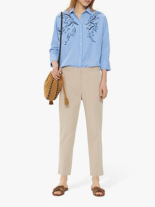 Gerard Darel Nae Casual Trousers, Ecru