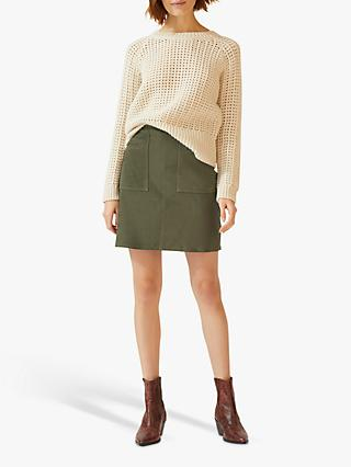 492829253f Jigsaw Suede Chic Mini Skirt
