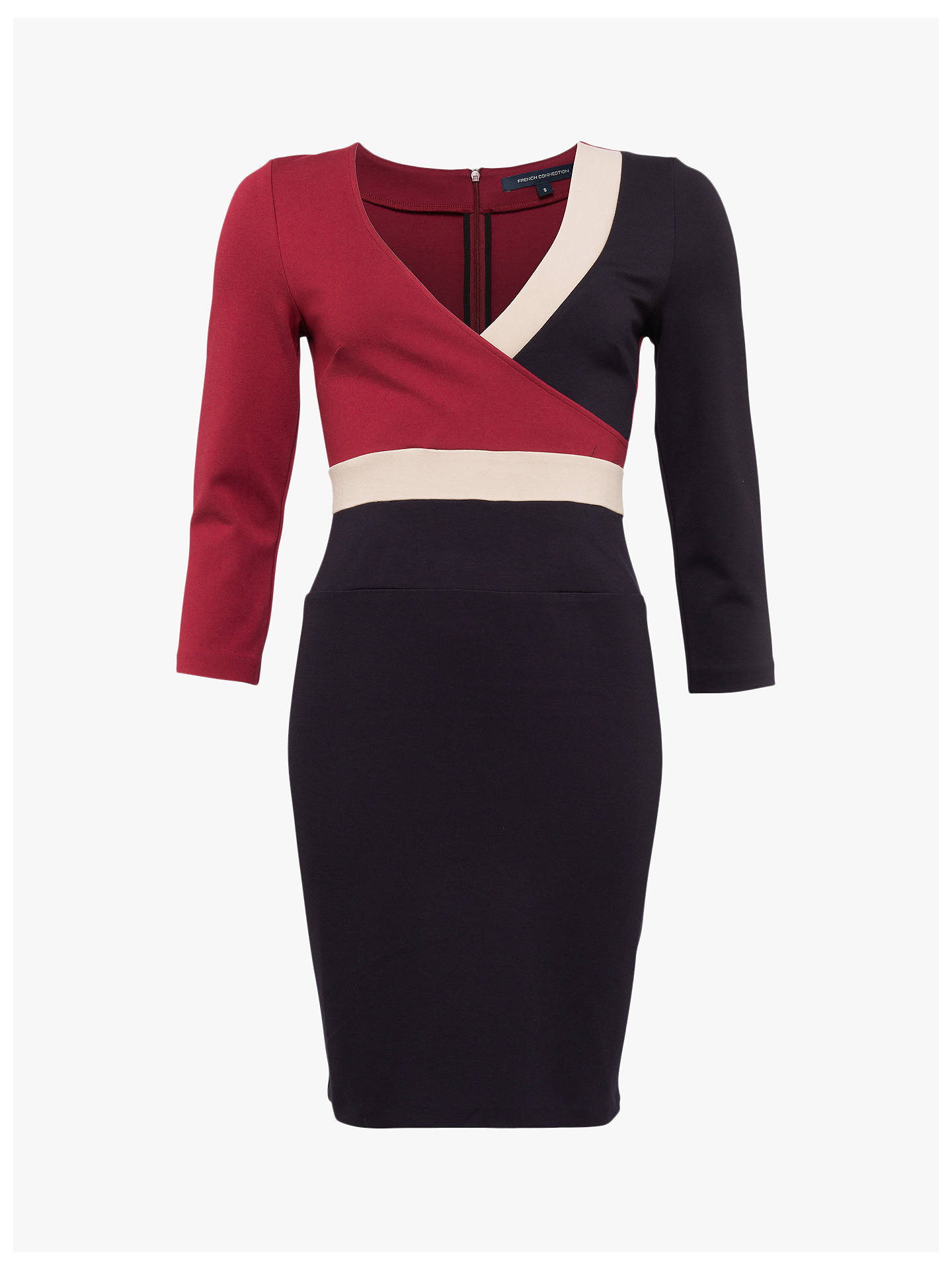 Buy French Connection Veronique Jersey Wrap Dress, Rosso/Sabbia/Util, 14 Online at johnlewis.com