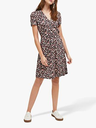 French Connection Fauna Meadow Dress, Black/Multi