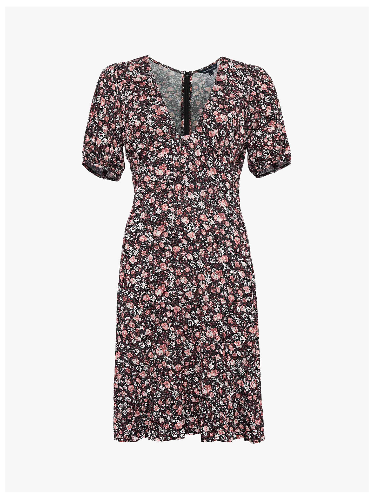 Buy French Connection Fauna Meadow Dress, Black/Multi, 10 Online at johnlewis.com