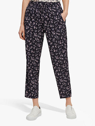 Buy French Connection Felicienne Jogger Trousers, Navy Multi, 6 Online at johnlewis.com