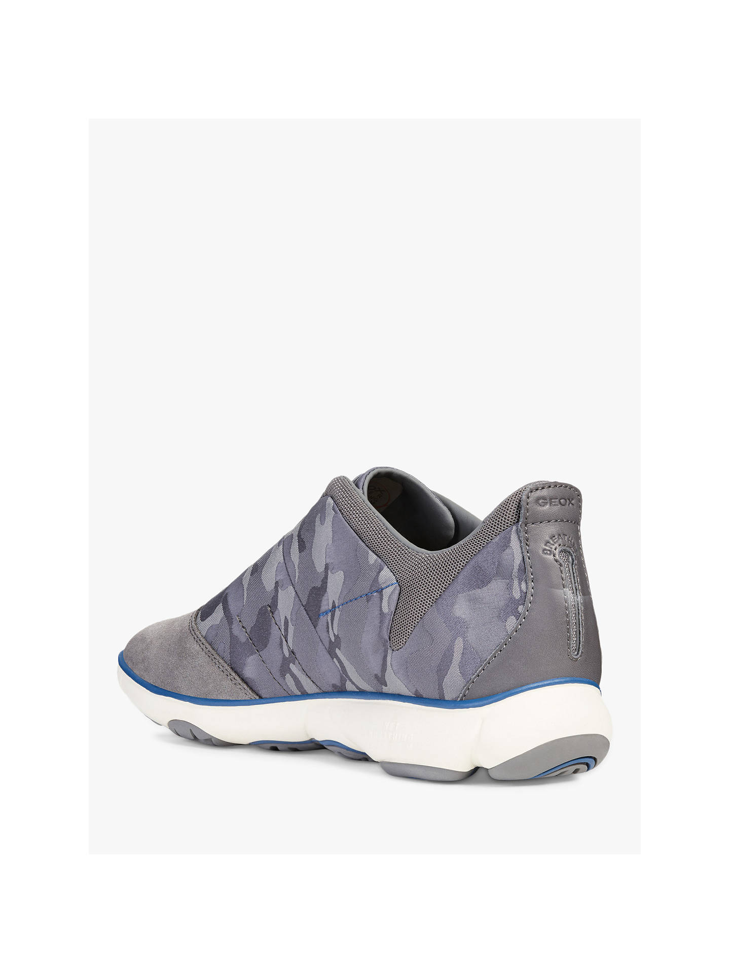 Buy Geox Nebula Camoflauge Print Trainers , Grey, 8 Online at johnlewis.com