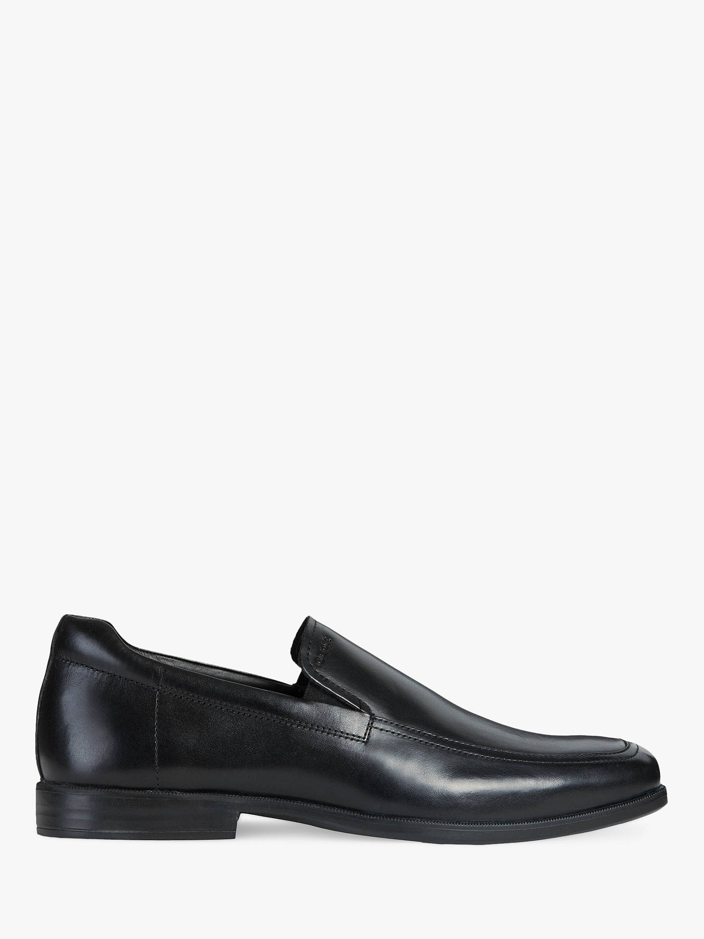 f7eefad9a96 Buy Geox Calgary Leather Loafers, Black, 8 Online at johnlewis.com ...