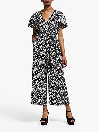 Somerset by Alice Temperley Star Bird Jumpsuit, Black/Ivory