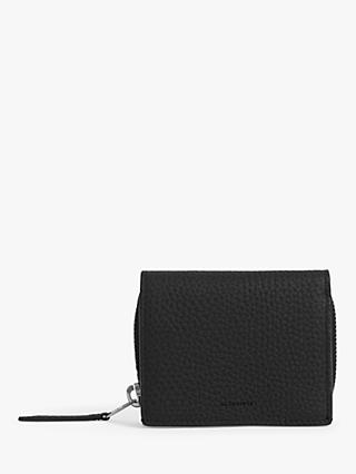 AllSaints Captain Small Leather Wallet