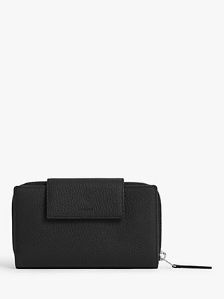 AllSaints Captain Leather Wallet, Black