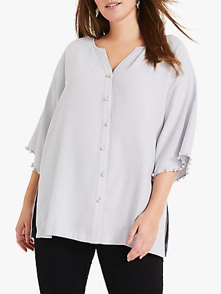 Studio 8 Cassidy Pearl Embroidered Top, Grey
