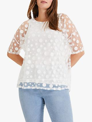 Studio 8 Harriet Spot Top, White