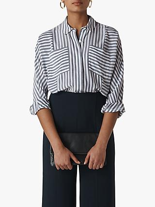 7da59ddaff68d7 Whistles Block Stripe Blouse