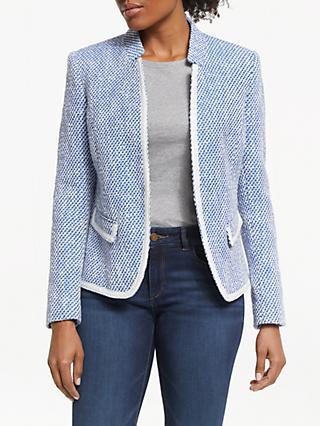 6ae08c099c55 Helene For Denim Wardrobe Amelia Notch Collar Jacket, Blue/Ivory