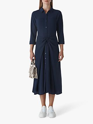 Whistles Selma Tie Dress, Navy