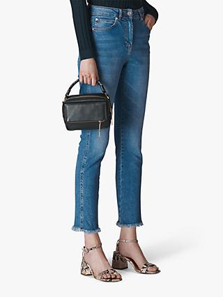 Whistles Slim Frayed Detail Jeans, Denim