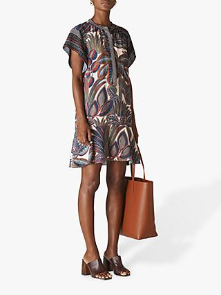 Whistles Palm Print Shirt Dress, Multi
