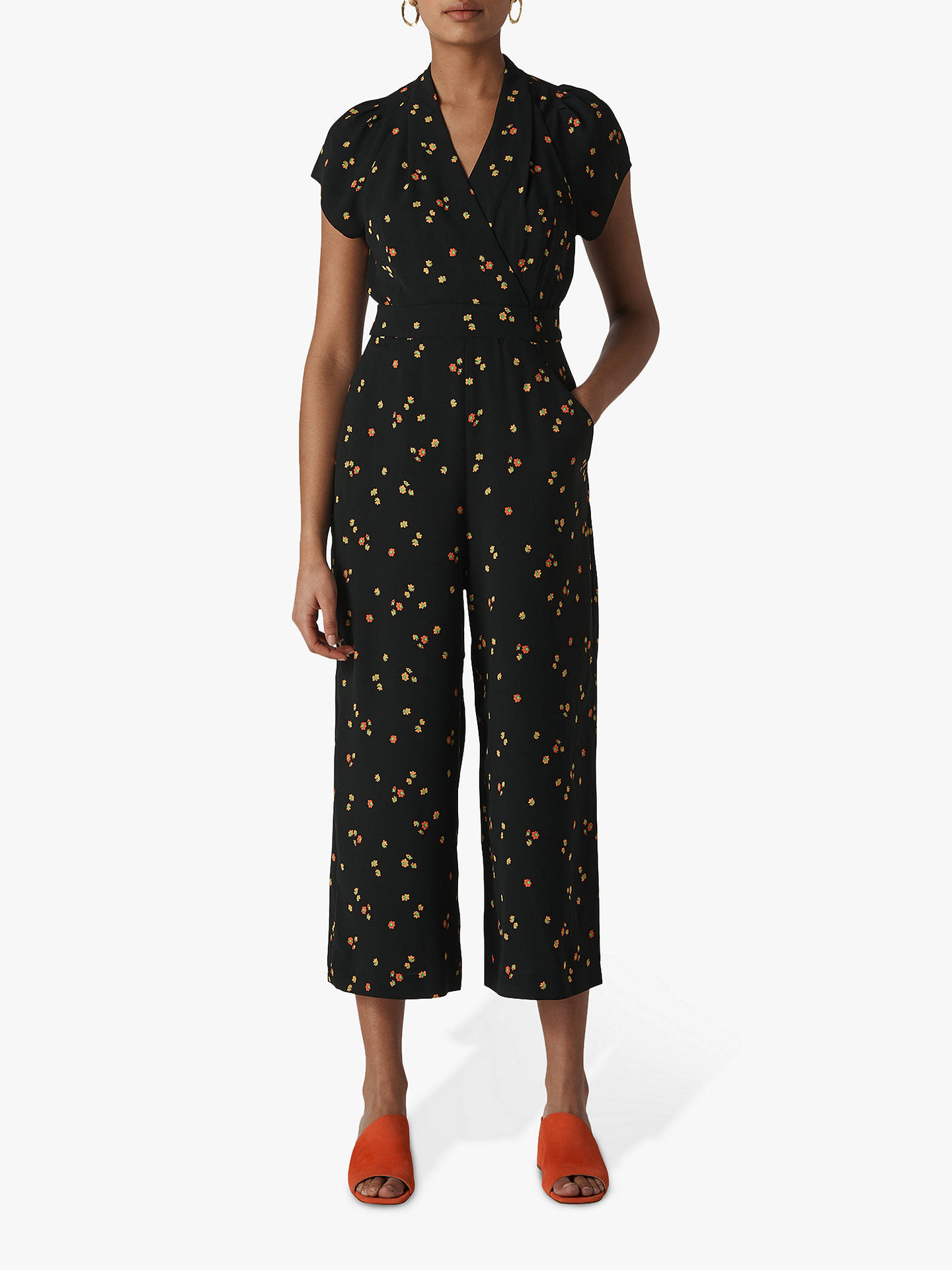40568a0467 Buy Whistles Micro Floral Tie Back Jumpsuit