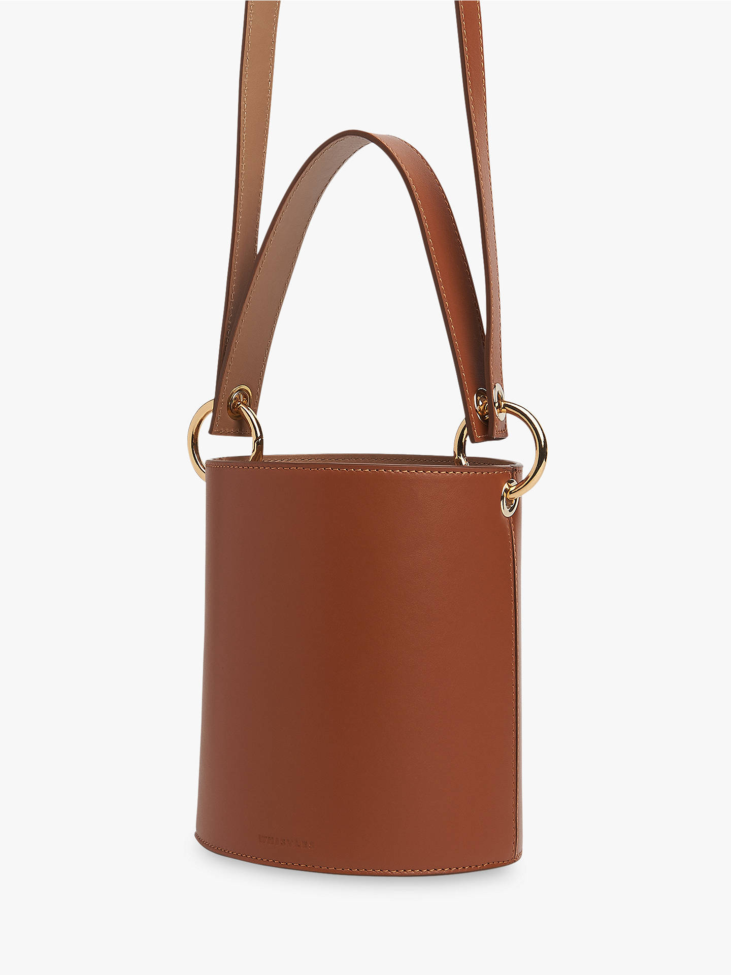 Buy Whistles Matilda Bucket Bag, Brown Online at johnlewis.com