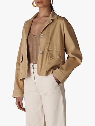 0579610d86d Whistles Cropped Utility Jacket