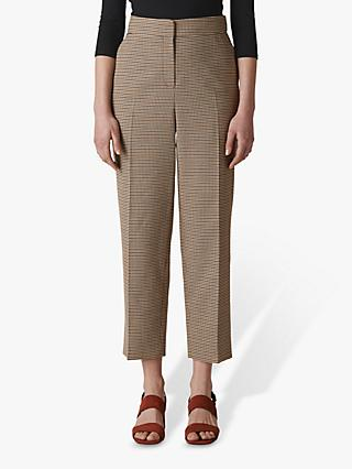 Whistles Kate Check Classic Trousers, Multi