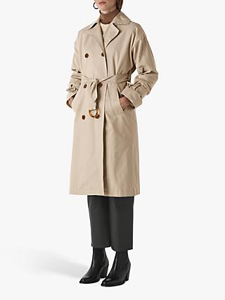 Whistles Paula Trench Coat, Beige