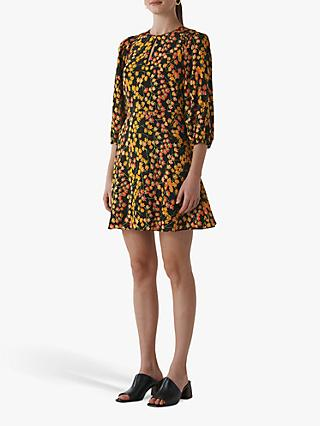 Whistles Ester Daisy Print Dress, Multi-colour