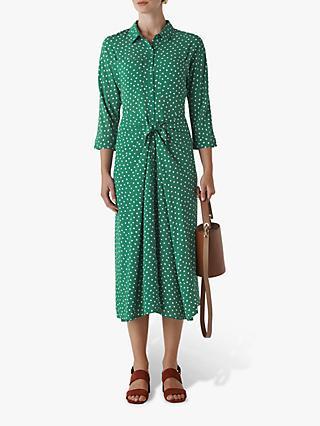 0b1ab17e0a Whistles Selma Twist Front Spot Print Shirt Dress