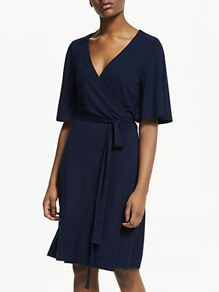 ARMEDANGELS Monaa Wrap Jersey Dress, Dark Navy