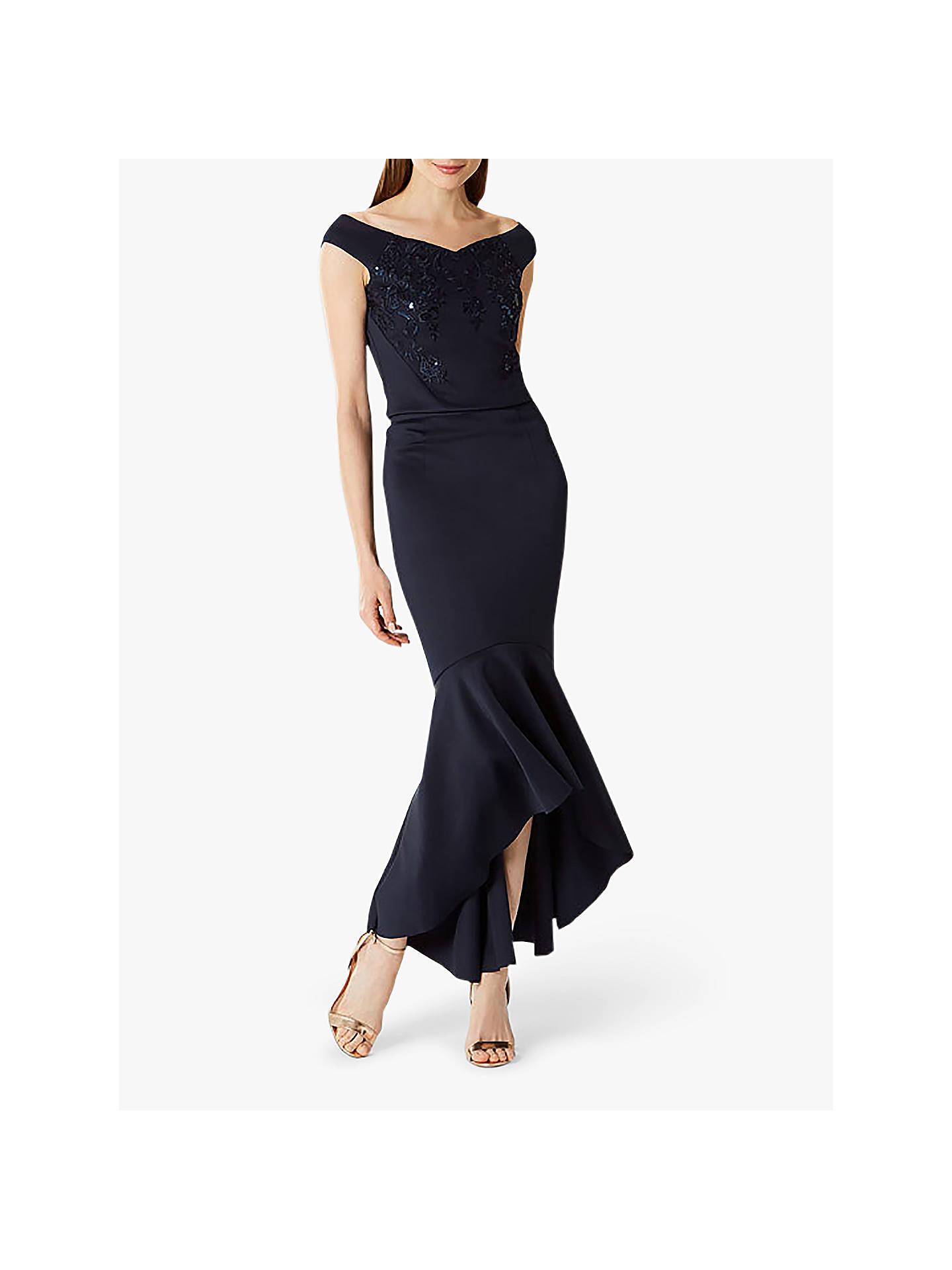 c8560389f3 Buy Coast Lilli Fishtail Skirt, Navy, 12 Online at johnlewis.com ...