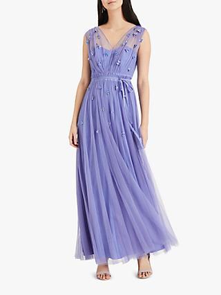 Phase Eight Collection 8 Yazmina Tulle Maxi Dress, Cornflower
