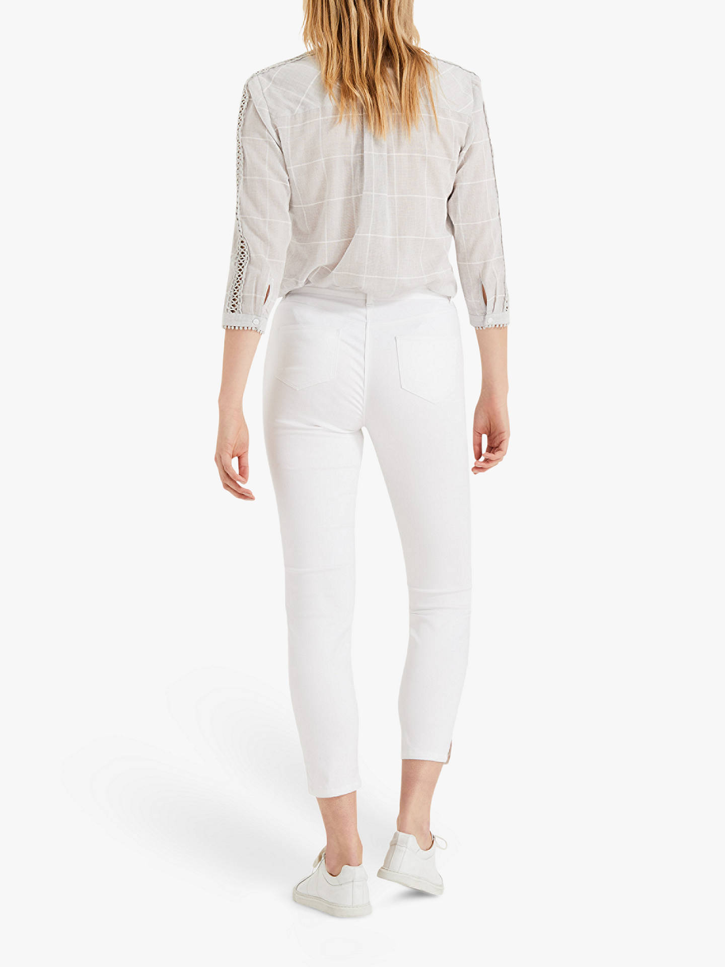 Buy Phase Eight Emerly Floral Pocket Jeans, White, 10 Online at johnlewis.com