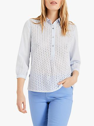 Phase Eight Beda Circle Shirt, Pale Blue