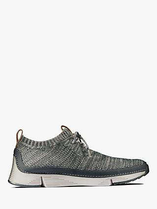Clarks Tri Native Trainers, Dark Grey