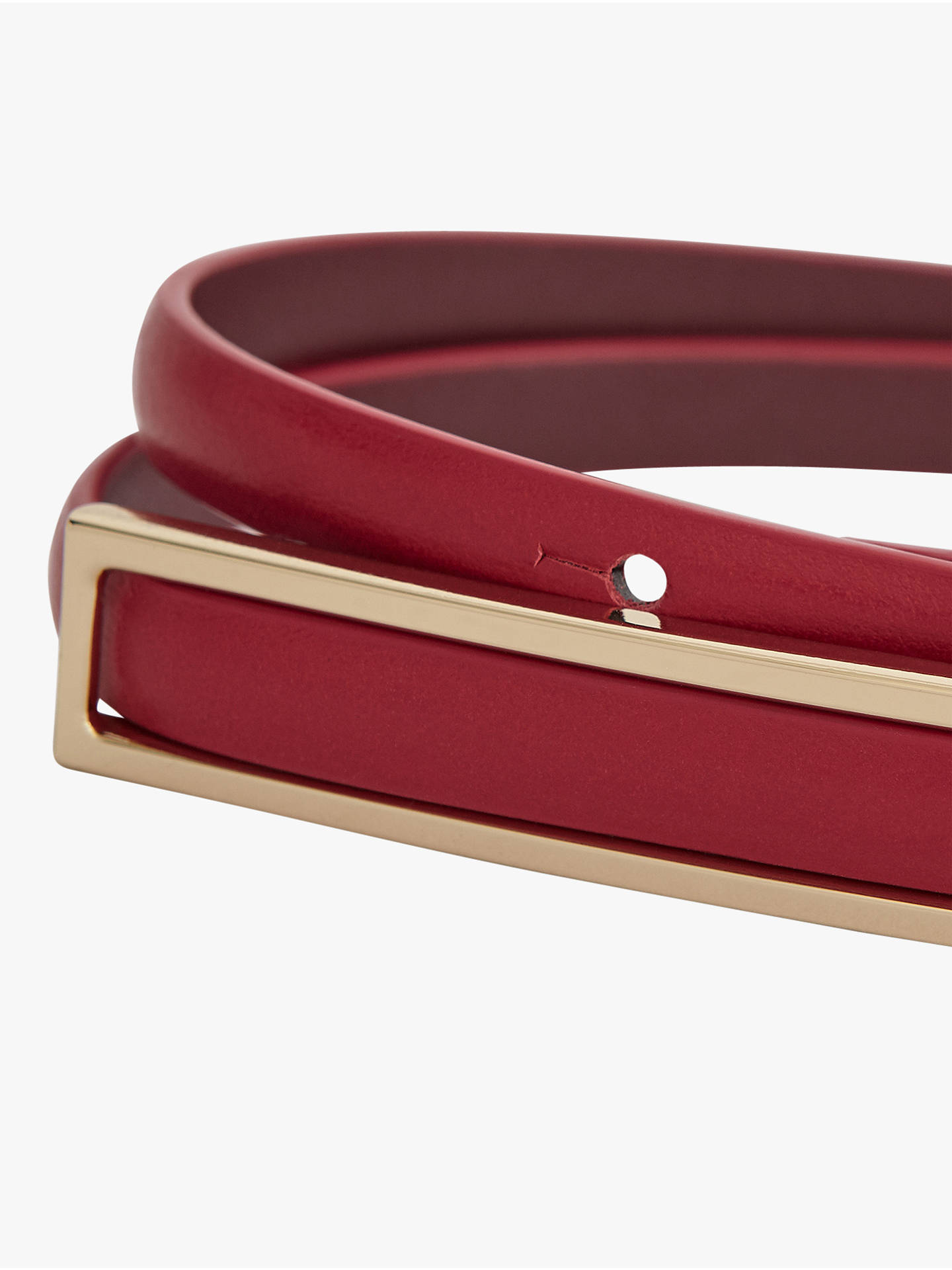 Buy Reiss Goya Belt, Red, S Online at johnlewis.com